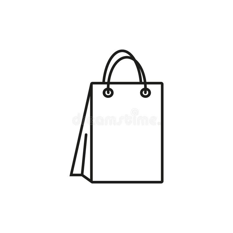 Saco para o ícone de compra ilustração do vetor