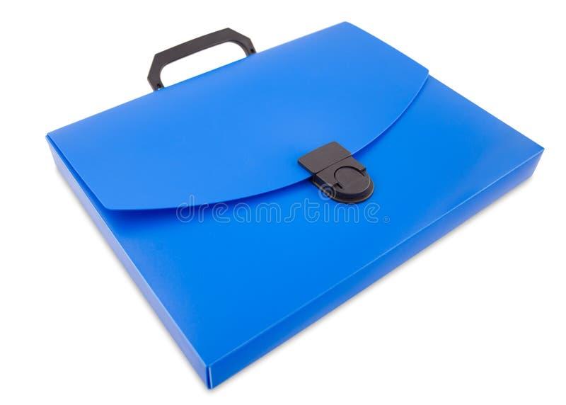 Saco plástico do dobrador, trajeto de grampeamento fotografia de stock