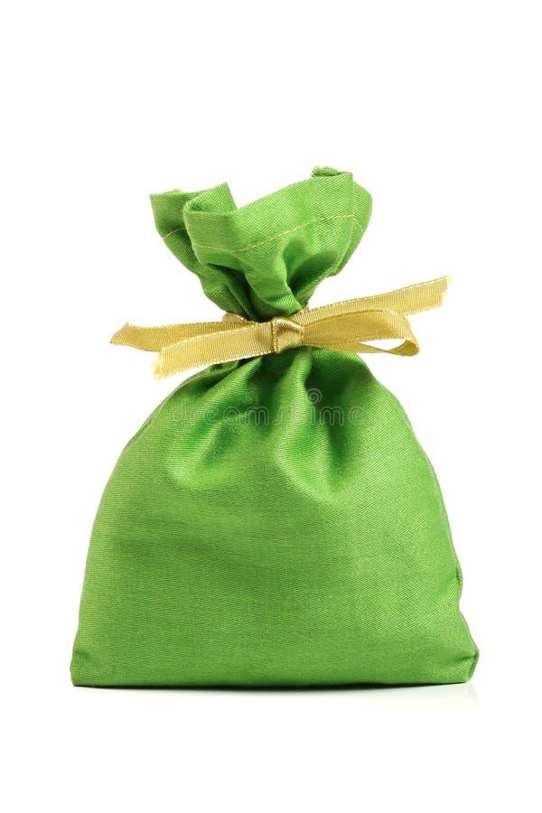 Saco Verde De Pano Imagem de Stock