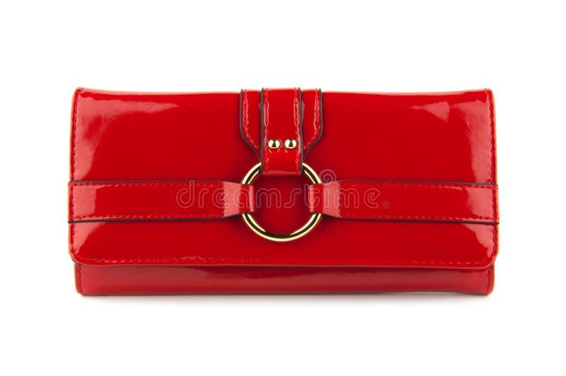 Saco vermelho das mulheres fotografia de stock royalty free