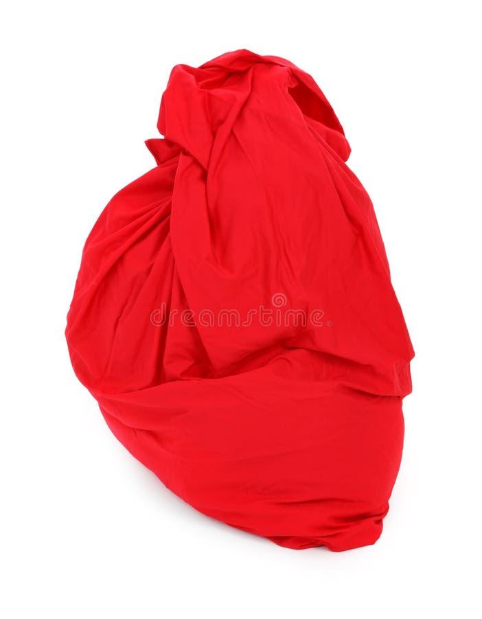 Saco vermelho de Papai Noel imagem de stock