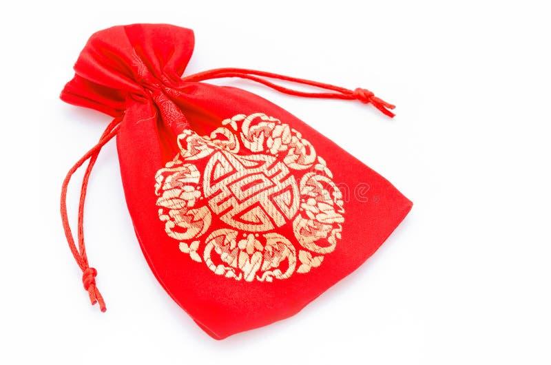 Saco vermelho pelo ano novo chinês fotos de stock royalty free