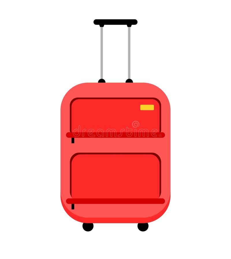 Sacoche à bagages rouge illustration stock