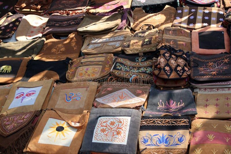 Sacos étnicos Handmade foto de stock