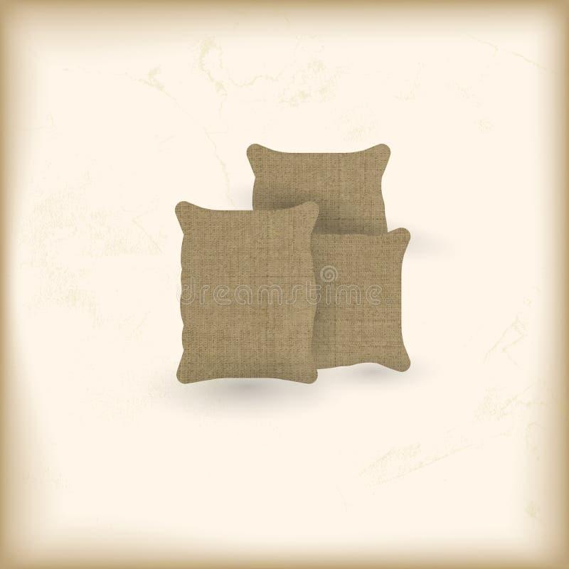 Sacos armazenados de matéria têxtil ilustração stock