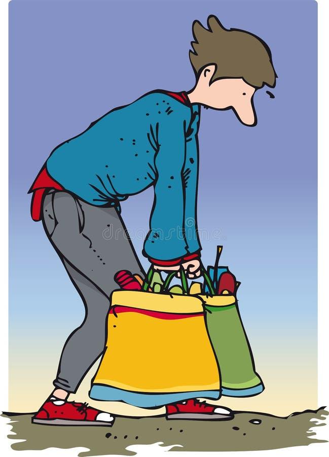 Sacos carreg ilustração do vetor