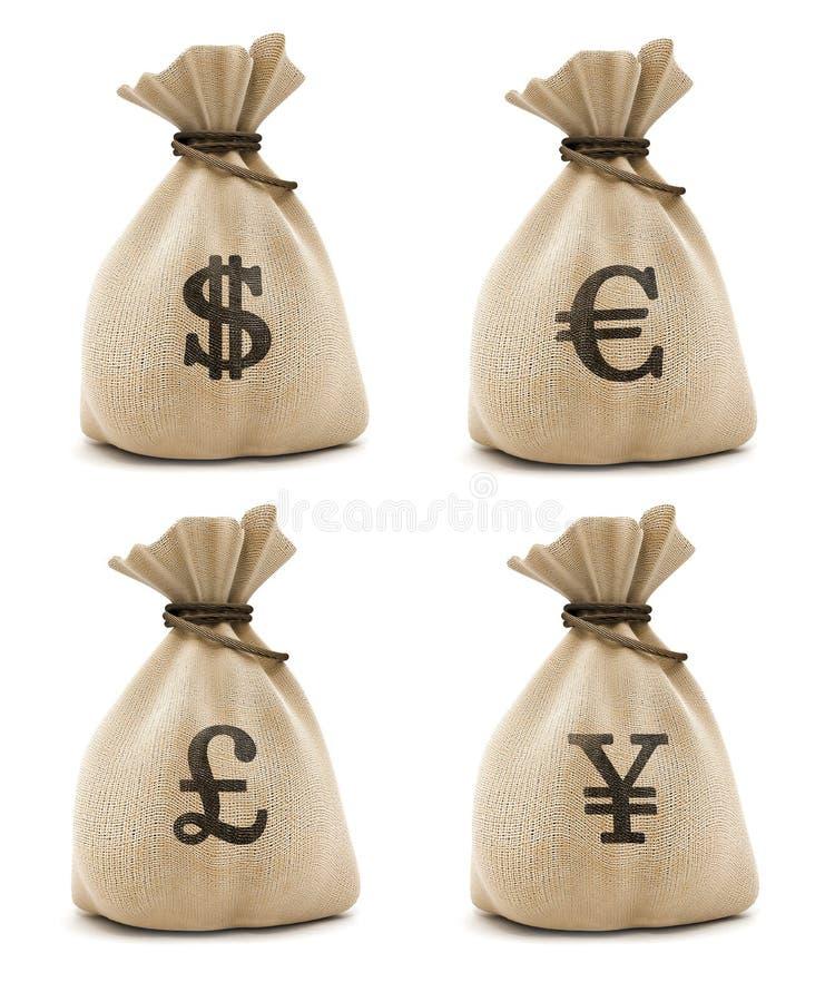 Sacos com dinheiro foto de stock royalty free