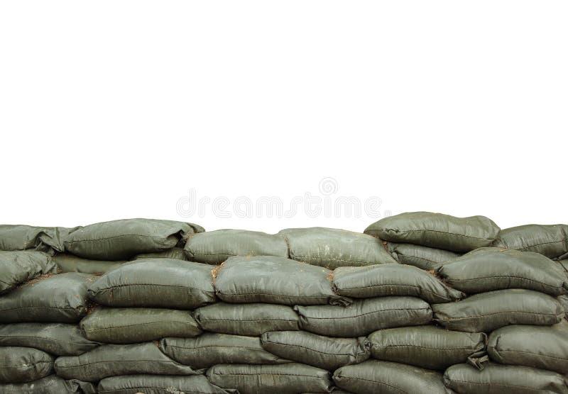 Sacos de areia imagens de stock