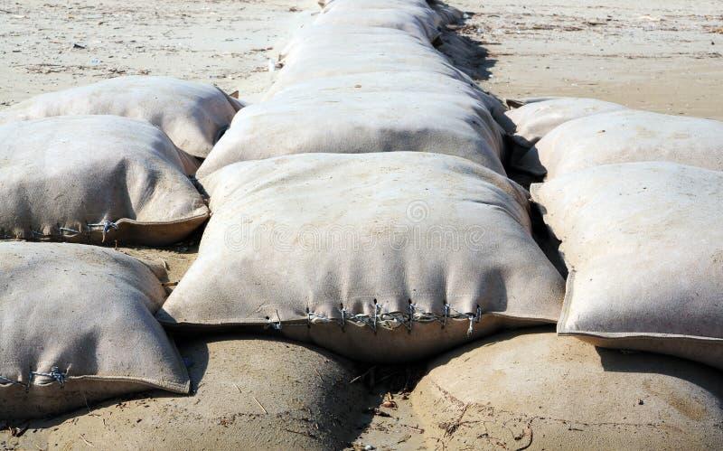 Sacos de areia fotografia de stock royalty free