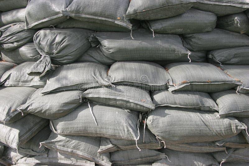 Sacos de areia empilhados foto de stock royalty free