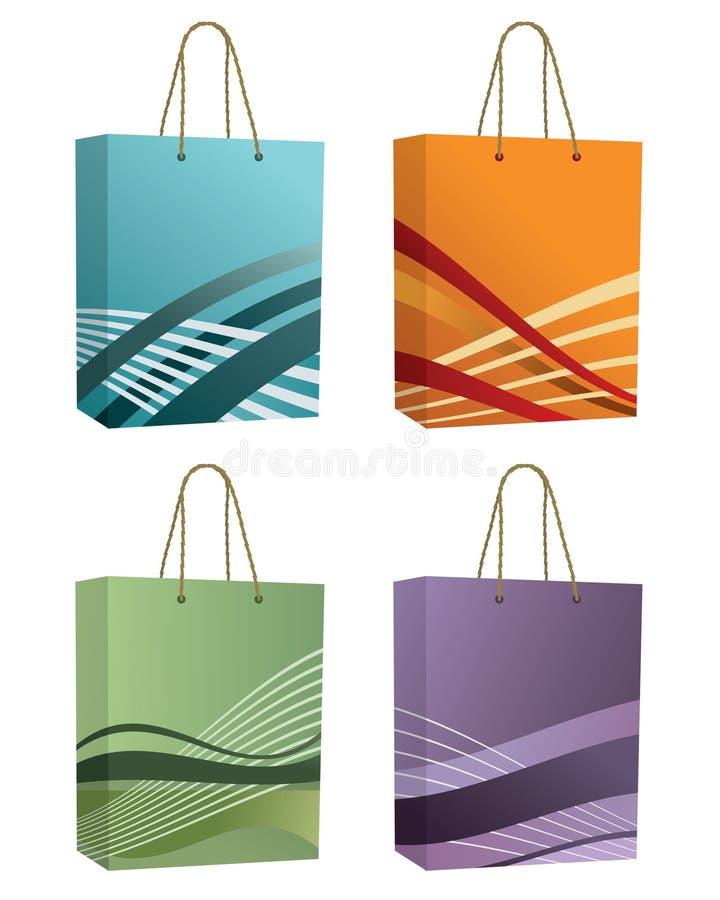 Download Sacos de compra ilustração do vetor. Ilustração de grampo - 10058651