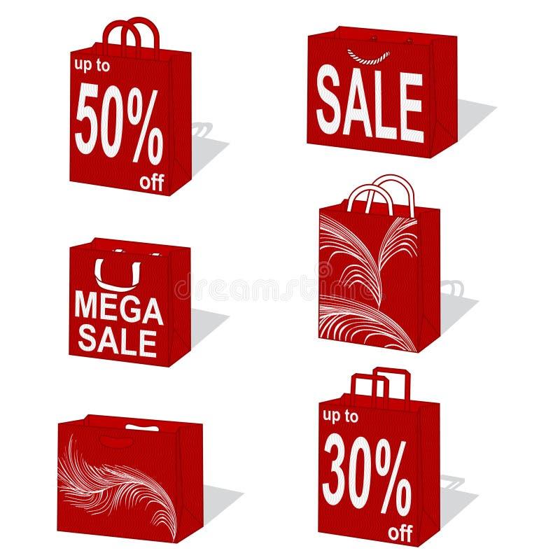 Sacos de compra ilustração stock