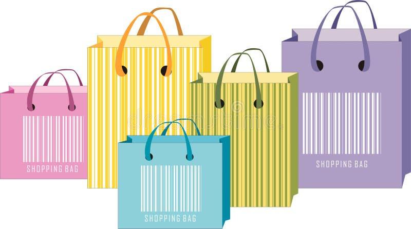 Sacos de compra ilustração do vetor