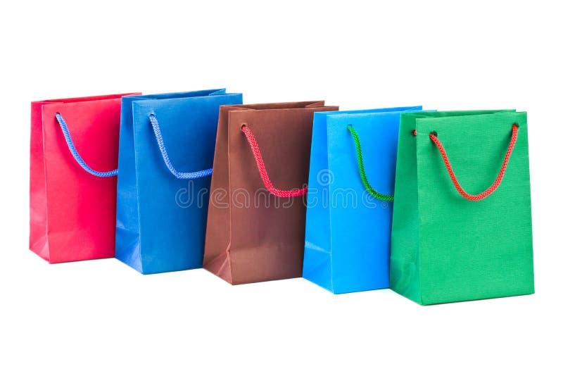 Sacos de compra coloridos imagens de stock royalty free