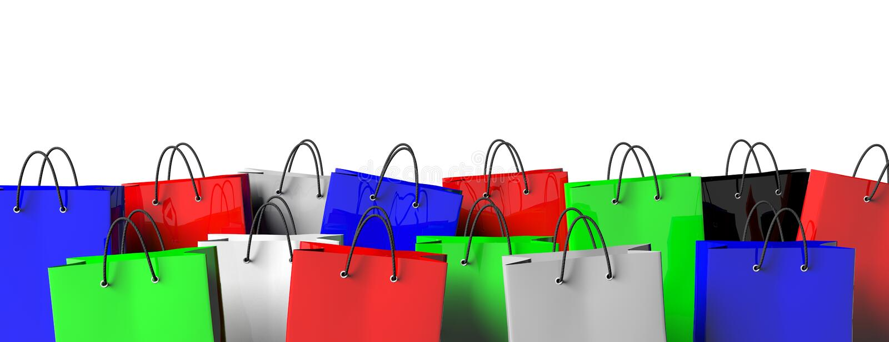 Sacos de compra coloridos ilustração royalty free