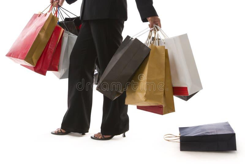 Sacos de compra deixados cair foto de stock royalty free