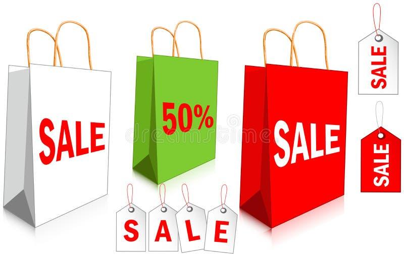 Sacos de compras ilustração royalty free