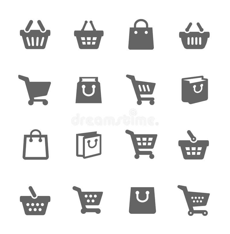 Sacos de compras e carros ilustração stock