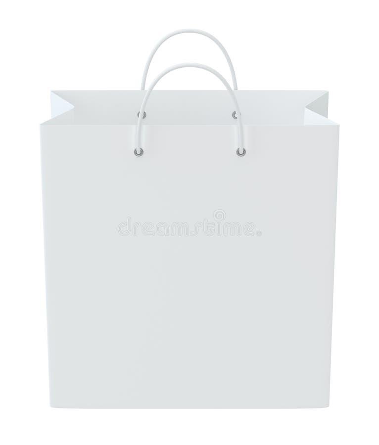 Sacos de compras vazios no branco para anunciar e marcar Isolado no fundo branco rendição 3d ilustração royalty free