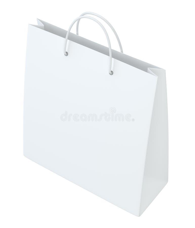 Sacos de compras vazios no branco para anunciar e marcar Isolado no fundo branco rendição 3d ilustração do vetor