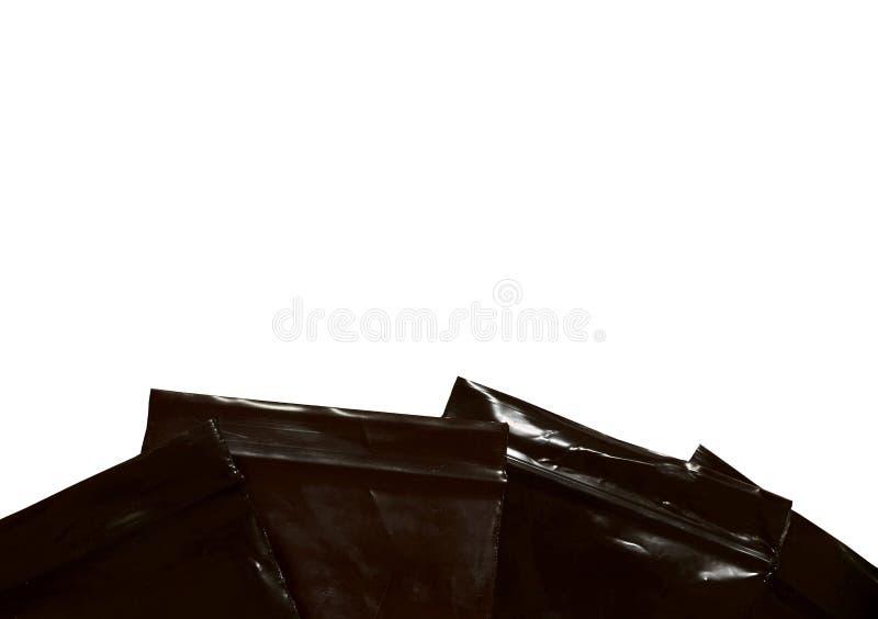 Sacos de fecho castanhos de fundo branco isolado fotos de stock