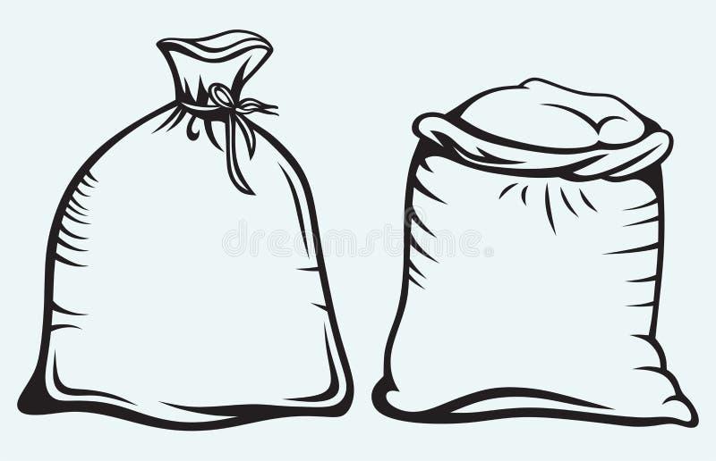 Sacos de grão ilustração stock