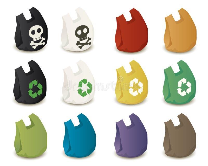 Sacos de plástico ilustração do vetor