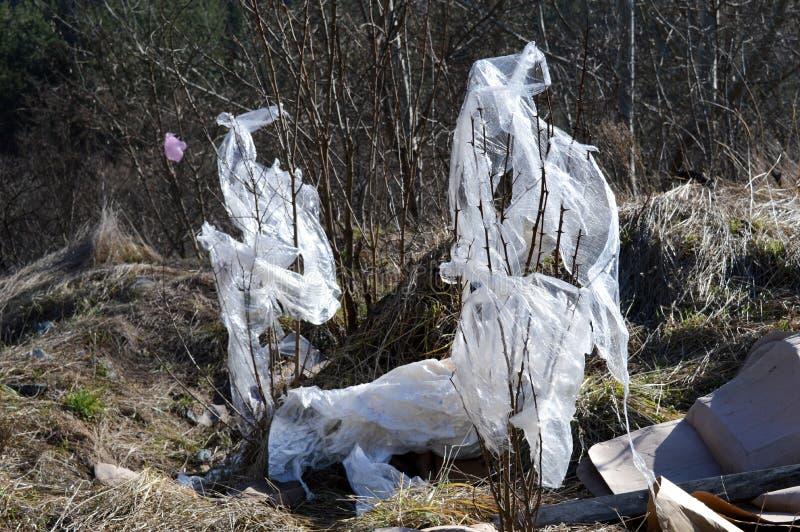 Sacos de plástico como o lixo foto de stock royalty free