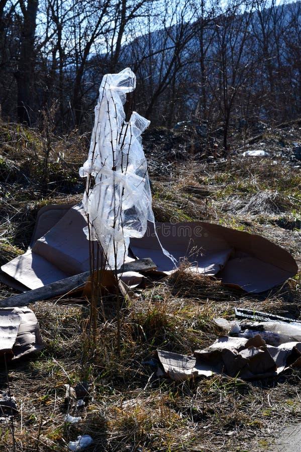 Sacos de plástico como o lixo imagens de stock royalty free