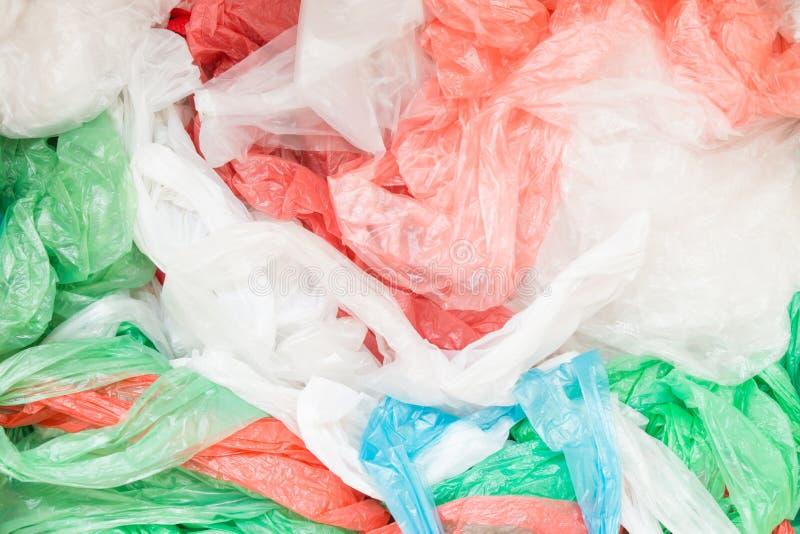 Sacos de plástico descartáveis foto de stock