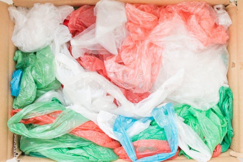 Sacos de plástico descartáveis imagem de stock