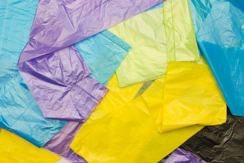 Sacos de plástico descartáveis fotos de stock