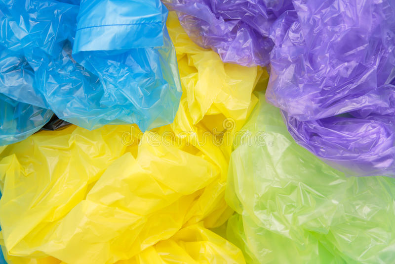 Sacos de plástico descartáveis imagem de stock royalty free