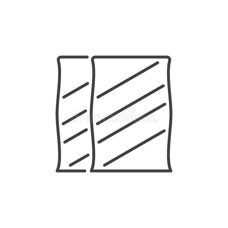 Sacos do ícone do conceito do vetor do cimento no estilo do esboço ilustração stock