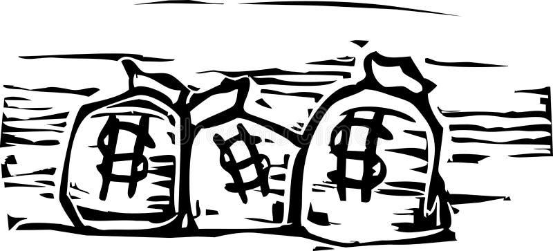Sacos do dinheiro ilustração do vetor