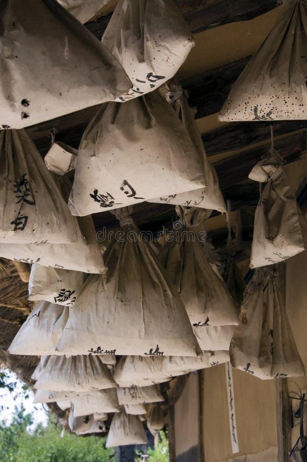 Sacos tradicionales, el Sur Corea imagen de archivo