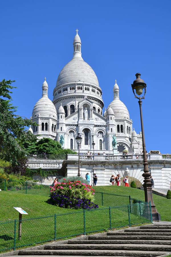 Sacré-Cœur basilica in Paris, France stock photo