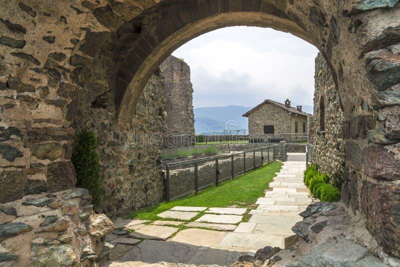 Sacra Di San Michele - Heilige Michael Abbey, Italië royalty-vrije stock fotografie