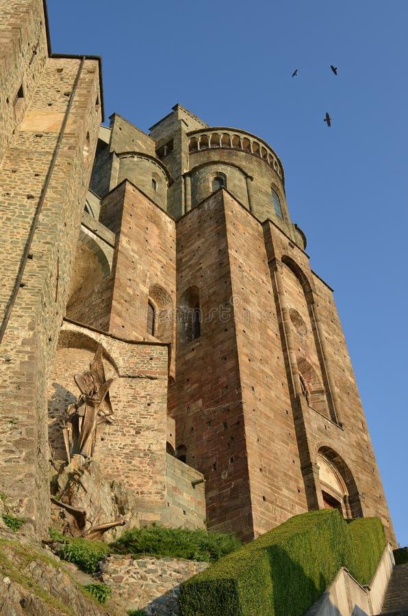 Sacra Di San Michele, Italië royalty-vrije stock fotografie