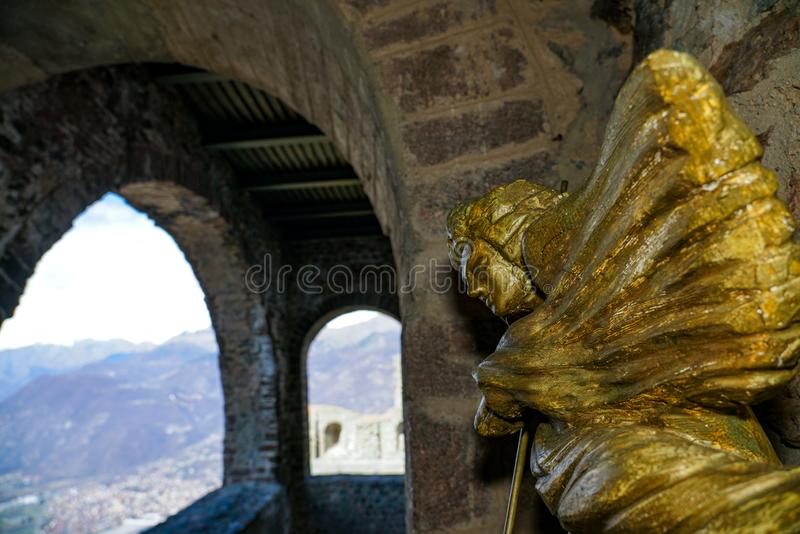 The Sacra di San Michele. Piedmont,Italy The Sacra di San Michele the Archangel, or more properly the Abbey of San Michele della Chiusa, also called Sagra di San royalty free stock images