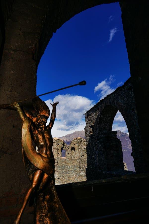 Sacra Di San Michele obraz royalty free
