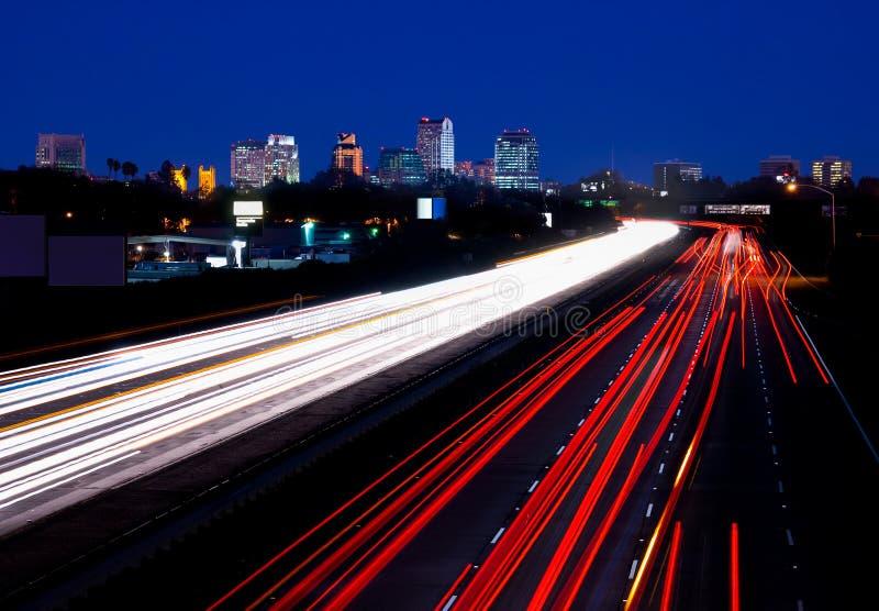 Sacramento bij nacht royalty-vrije stock afbeeldingen