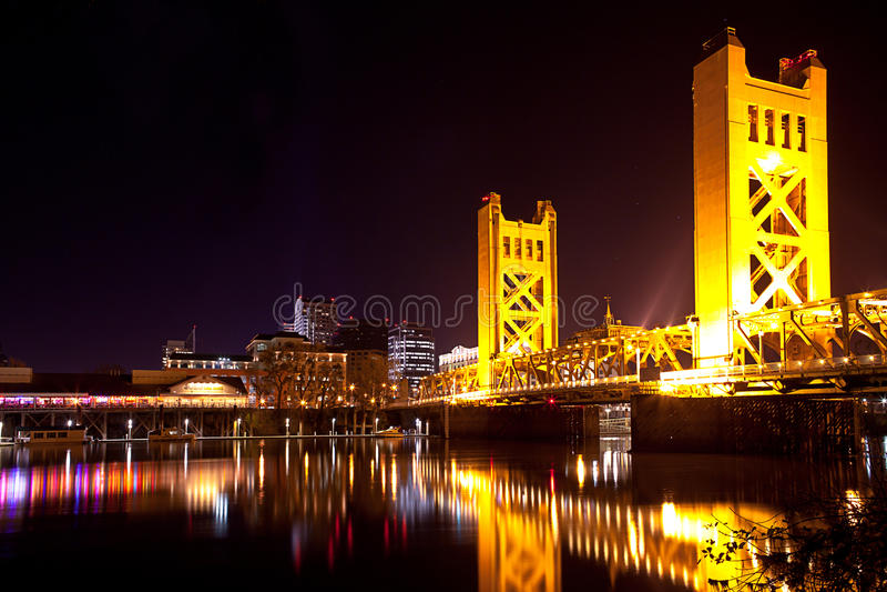 Sacramento Bridge royalty free stock photography