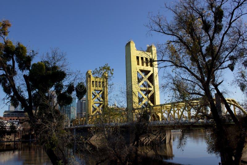 Sacramento, CA, Etats-Unis - pont photographie stock