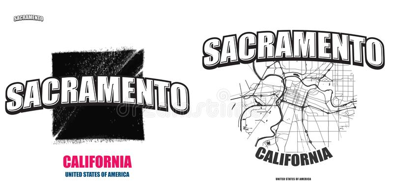 Download Sacramento California Two Logo Artworks Stock Vector
