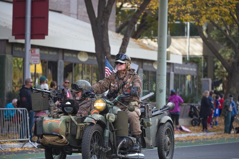 Sacramento Veterans Day Parade. Sacramento, California, United States - November 11, 2019: Veterans Day Parade royalty free stock photos