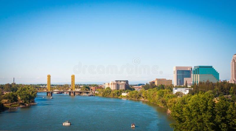 Sacramento går, Kalifornien skott, USA arkivfoton