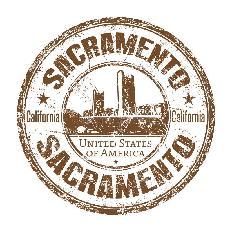 Sacramento grunge rubber stamp stock image