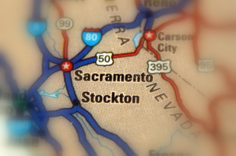 Sacramento Kalifornien - U S royaltyfri bild
