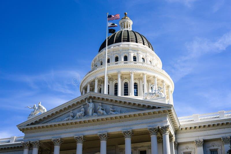 Sacramento Kapitoliumbyggnad arkivfoto